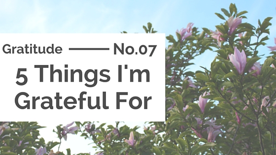Gratitude :: 5 Things I'm Grateful For